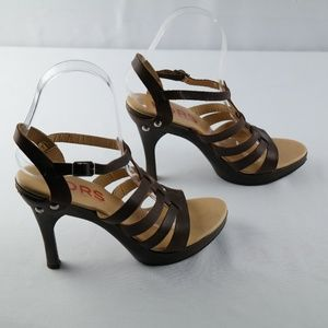 Michael Kors High Heel Sandals Brown Sz 7